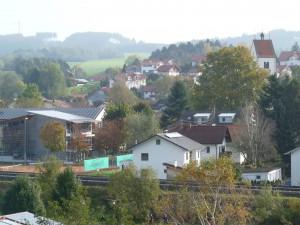 Blick auf das Ökodorf Wildpoldsried