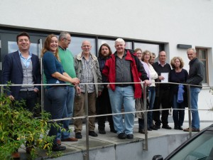 Die Grüne Fraktion vor dem Bildungshaus in Wildpoldsried